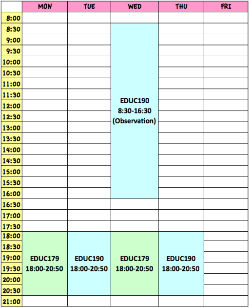 timetablesummer