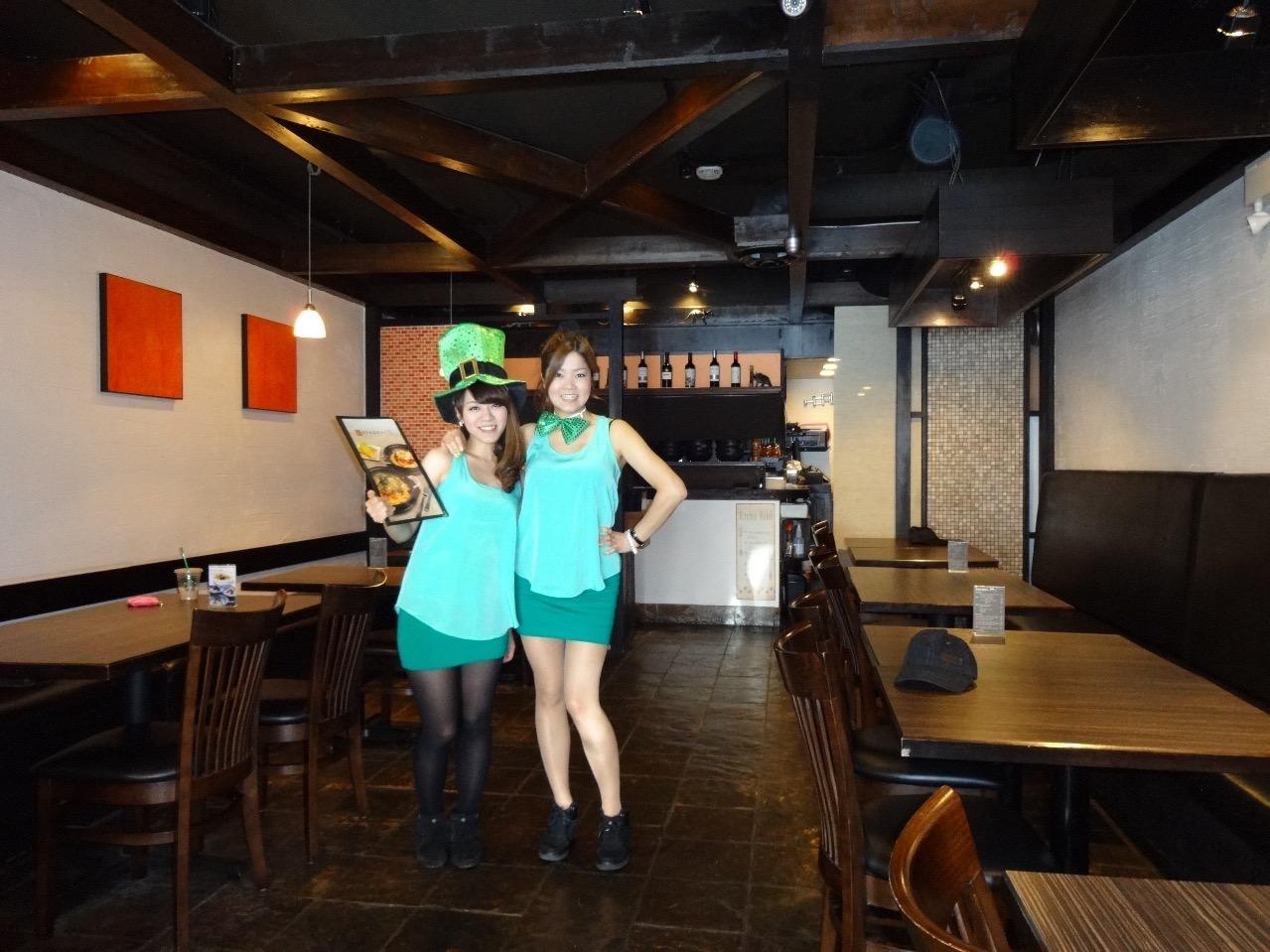St Patrick's Dayなので緑の服で♪